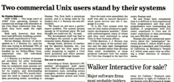 Stand By Your Unix System