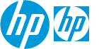 HP double logo