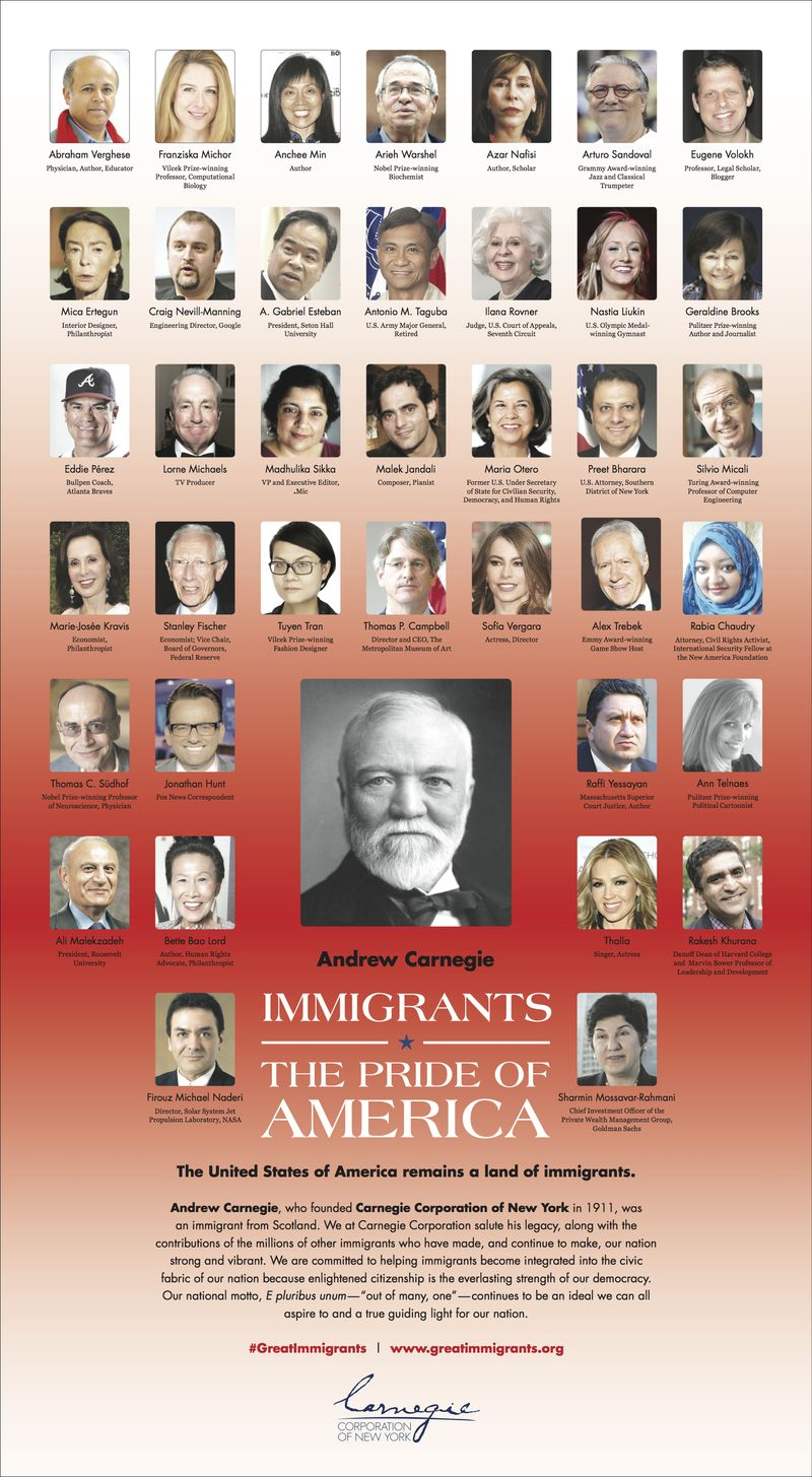 Carnegie immigrant ad