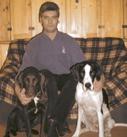 Alan Yeo with dogs