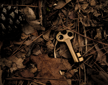 Brass treasure key