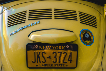 VW bug license plate