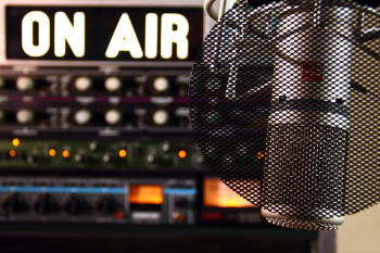 Mic in studio on air