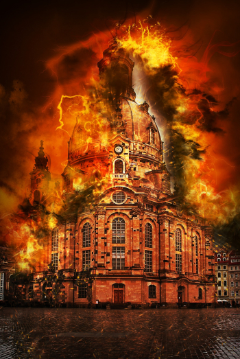 Cathedral firebomb